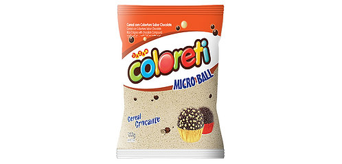Confeito de Chocolate Branco Coloreti Micro Ball Jazam 500g