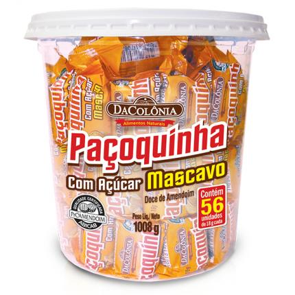 Paçoca Rolha com Açúcar Mascavo 1008g - DaColônia