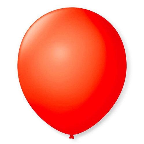 Balão  N°9 Vermelho Quente - Pacote com 50un - Balões São Roque