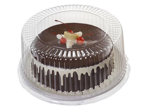 Embalagem NP 050 Pet Branco/Cristal Alta Torta Pequena c/ 50 un. Novapackc/