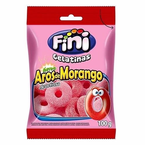 Bala Aros De Morango 100G - Fini