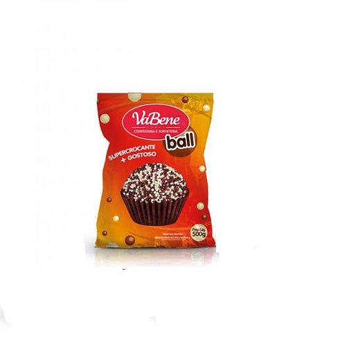 Cereal Micro Ball com cobertura sabor Chocolate Ao Leite e Branco 500g - VaBene