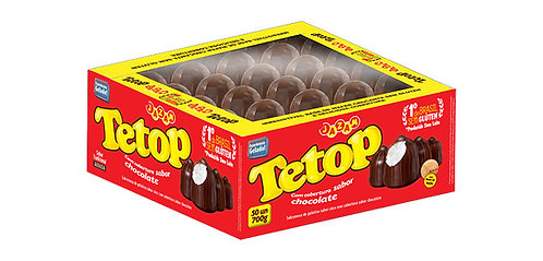 Doce Tetop Chocolate Jazam Cx 50 unidades – 700g