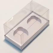Caixa para 2 CupCake Branco 10X7 pacote com 10 unidades. Papieri