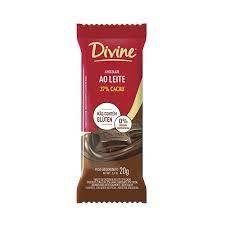 Chocolate Divine Ao Leite Dp com 12 unidades de 20g