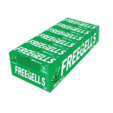 Drops Freegells Play Menta Display com 12un Riclan