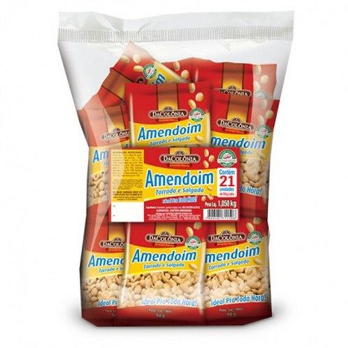 Amendoim Salgado Pacote 1.050 gr  (21X50gr) DaColonia