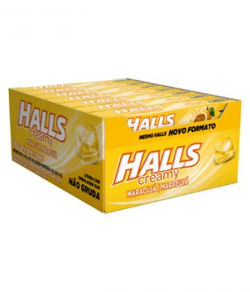 Halls Creamy Maracujá Display com 21 un