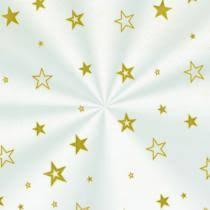 Saco de celofane decorado Estrela Ouro 10x14cm pct c/ 50un Cromus