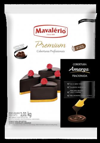 Cobertura Fracionada em Gotas Mavalério Premiun Amargo 1kg