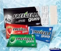 Chicle Freegells Gum Display c/ 15un Riclan - Na compra de 3 pague R$11,49 cada