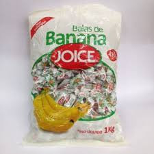 Balas de Banana Joice 1kg