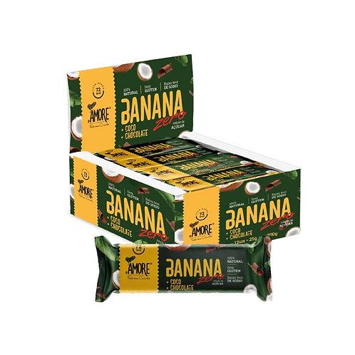Banana + Coco + Chocolate Display com 12 unidades Amore