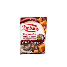 Bala Caramelo Chocolate e Leite 150g Embaré