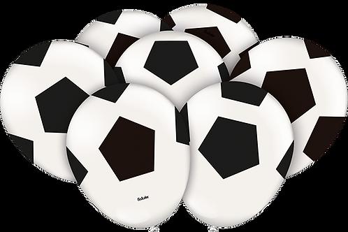 Balão  N°9 Tema: Bola de Futebol -Pacote com 25un- Balões Festcolor