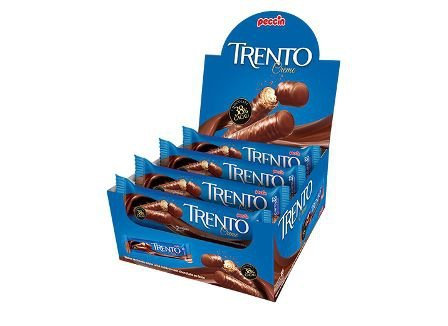Wafer Trento Chocoate Ao Leite com recheio de Creme 512g Dp com 16 embalagen