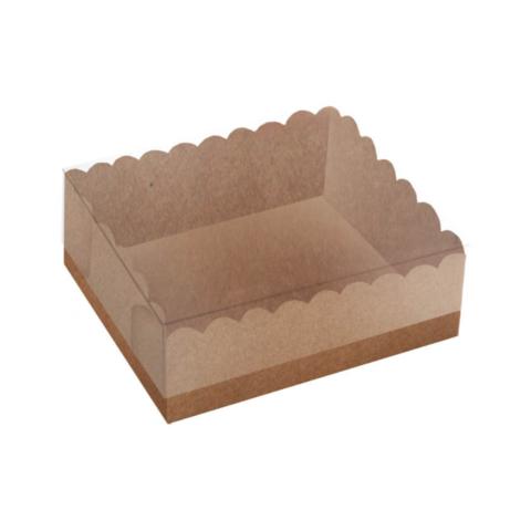 Caixa Delicate para Doces Kraft 12X12X4 pacote com 10 unidades. Papieri