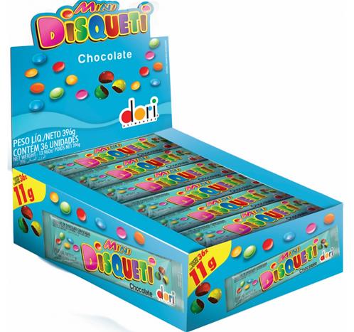 Confeito de Chocolate Mini Disqueti 36X11g - Dori