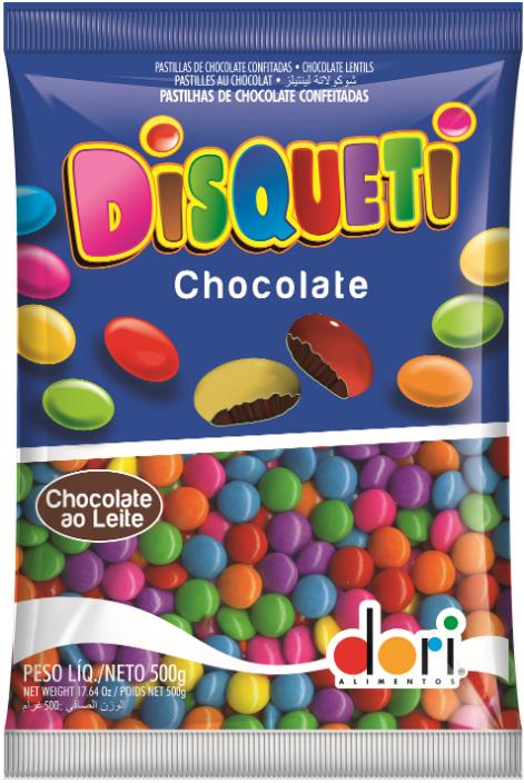 Confeito de Chocolate Disqueti 500g - Dori