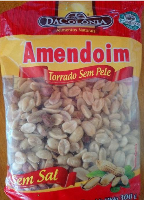 Amendoim Torrado Sem Pele 300g - Da Colonia
