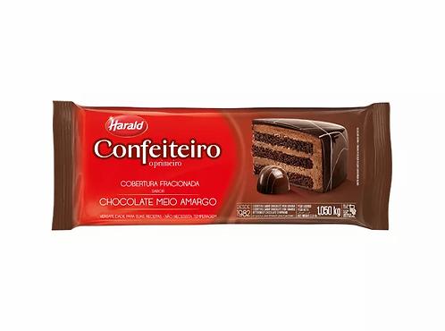 Cobertura Fracionada sabor Chocolate Meio Amargo Harald Confeiteiro1,050kg