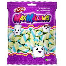 Marshmallow Maxmallows Twist Color 3 Baunilha 250g Docile