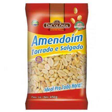 Amendoim Torrado e Salgado Da Colônia 450g