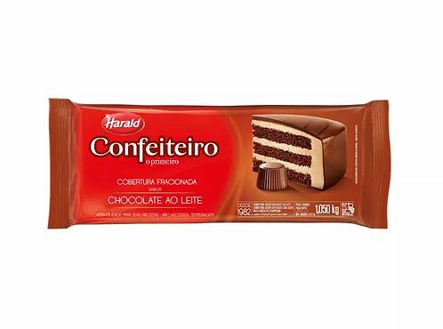 Cobertura Fracionada sabor Chocolate Ao Leite Harald Confeiteiro 1,050kg