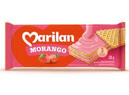 Biscoito Wafer Morango 115g Marilan