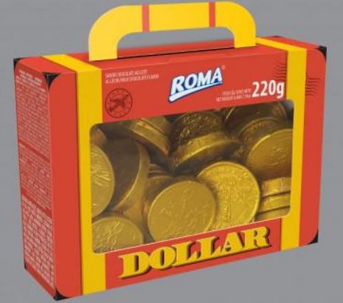 Chocolate em Moedas Maleta Dollar 220g - ROMA