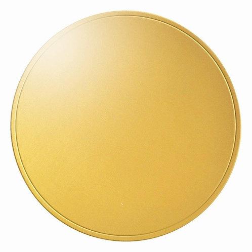 Base Laminada Redonda Ouro Brilho 31cm   Pacote c/ 10 un. Carber