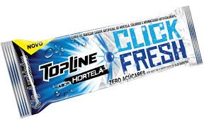 Chiclete Topline Fresh Hortelã - Display c/ 20un Arcor