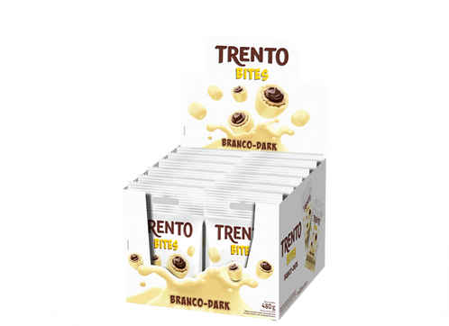 Wafer Trento Bites Branco-Dark Display com 12 un Peccin