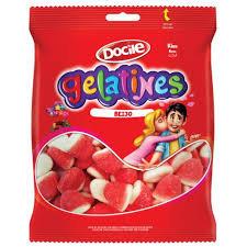 Bala Gelatines Gummies Beijo250g Docile