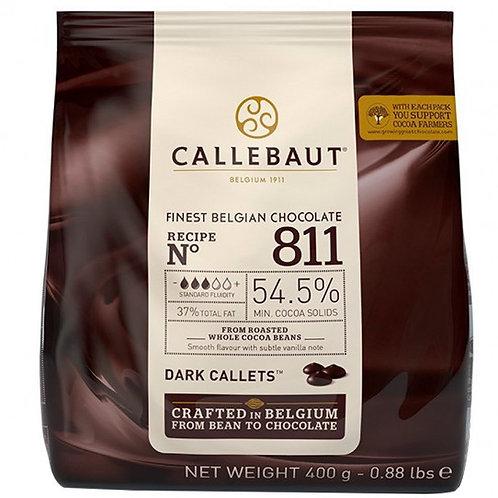 Chocolate Amargo 54,5% 400g Moedas Callebaut Sicao