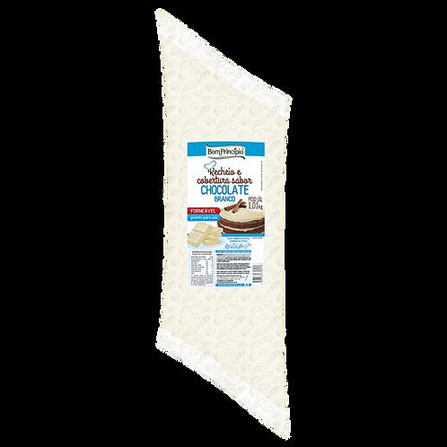 Recheio e Cobertura Sabor Chocolate Branco Bom Princípio 1,01kg