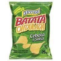 Batata Ondulada Cebola/Salsa 26g Kevytos