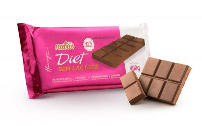 Barra Chocolate Nutris Diet  S/ Lactose 41%Cacau - 400g Haenssgen