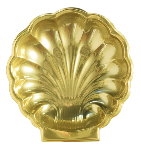 Bandeja Concha B600 Dourada - 15,6 X 16,5 X 3 -  Neoform