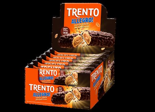 Wafer Trento Allegro Chocolate Dark com Amendoim Display com 16 un Peccin