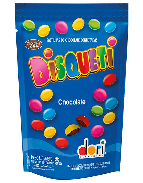 Confeito de chocolate Disqueti Pouch 150g Dori