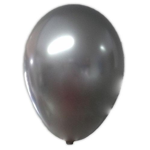 Balão  N°9 Prateado - Pacote com 25un - Balões São Roque