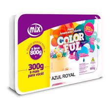 Pasta Americana Colorida Azul Royal  800g Mix