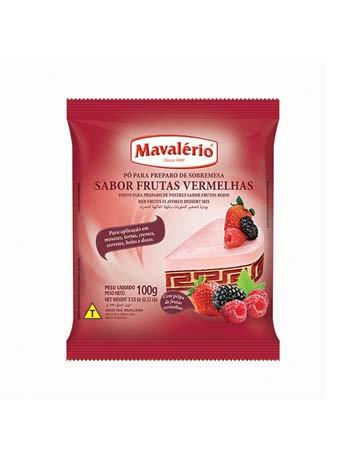 Pó para Sobremesa Frutas Vermelhas 100g -Mavalério