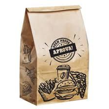 Saco de Papel Fast Food   Extra G Fundo Quadrado  250 un Embalebem