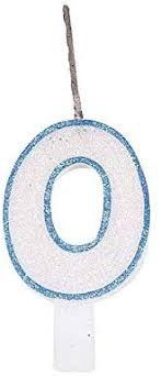 Vela Glitter Azul Nº 0 Festcolor