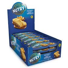 Barra de Cereal Nutry Caju com Chocolate - Dp c/ 24 un de 22g  Nutrimental