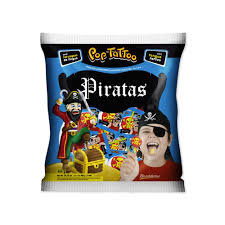 Pirulito Pop Tattoo Piratas 400g Boavistense
