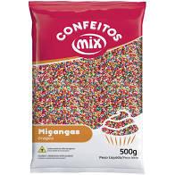 Confeito Miçanga 8 Cores  500g Mix