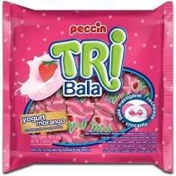 Bala Tribala Yogurte Morango 500g Peccin